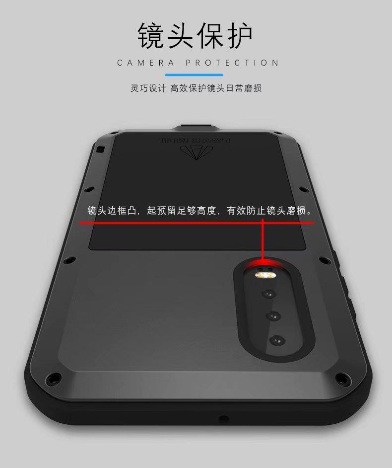 P30 Lite Love Mei puissant aluminium métal verre trempé 360 couverture complète antichoc armure étui pour huawei P30 Pro Life étanche - 6