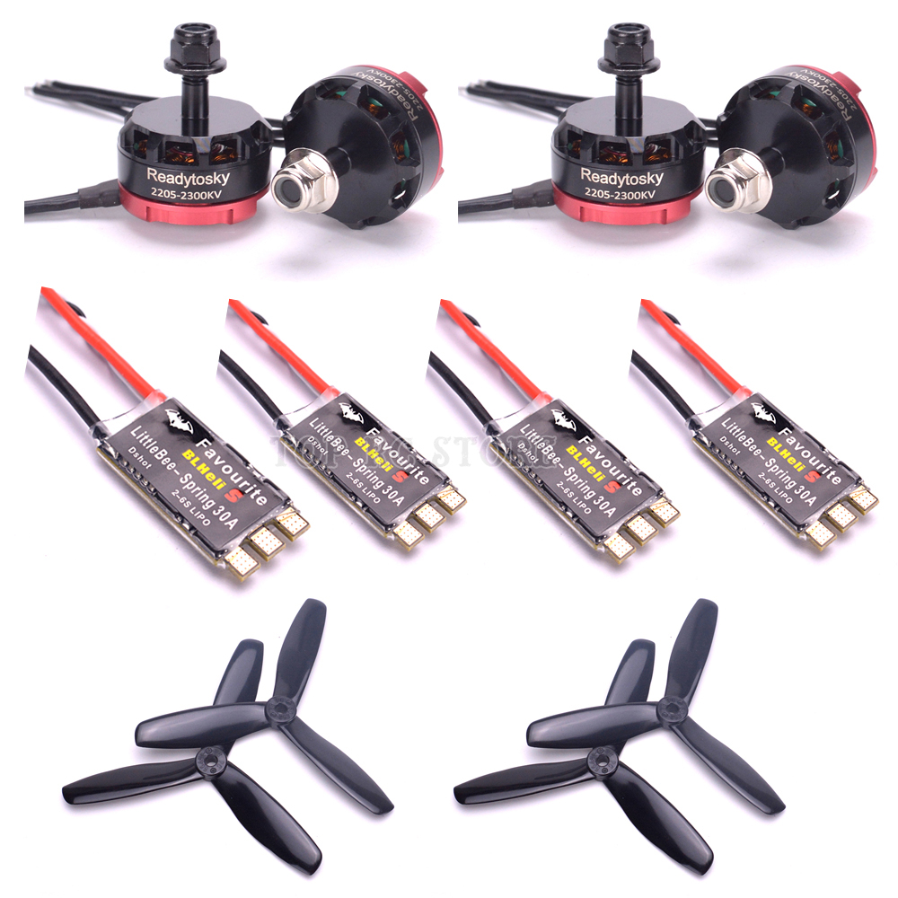 RS2205 2205 2300kv moteur brushless & Original Littlebee BLHeli-s 20A/30A ou Little bee Spring 20A/30A ESC pour Alien 225mmRS2205 2205 2300kv moteur brushless & Original Littlebee BLHeli-s 20A/30A ou Little bee Spring 20A/30A ESC pour Alien 225mm