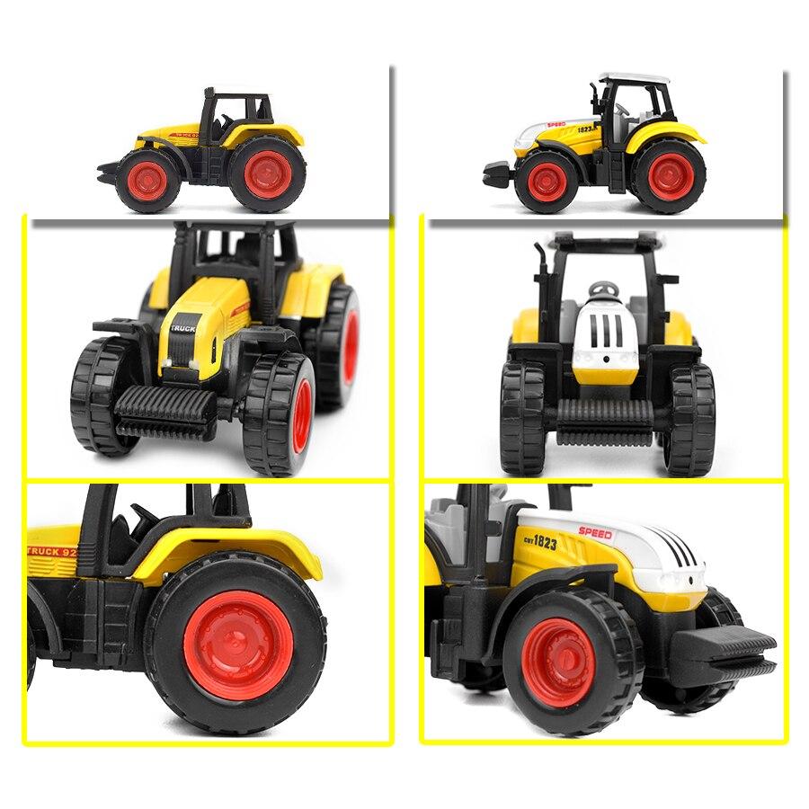 6 LIHUI 最も安い 種類合金ファームトラックダイキャスト車エンジニアリングバントラクターモデルおもちゃ子供の教育玩具ミニ農民車ギフト