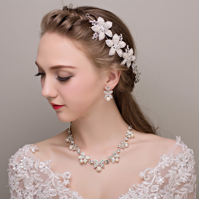 8d60a157b79 fashion jewelry womens accessories ladies jewelry fashion jewellery sets  Wedding Bridal Vintage Head Jewelry Necklace Earringset-in Jewelry Sets  from ...