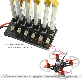 JST 1S Lipo Battery Charging Parallel Board Blade Inductrix Ultra Micro JST-PH Connector Plate FPV Indoor mini Racing Quadcopter image