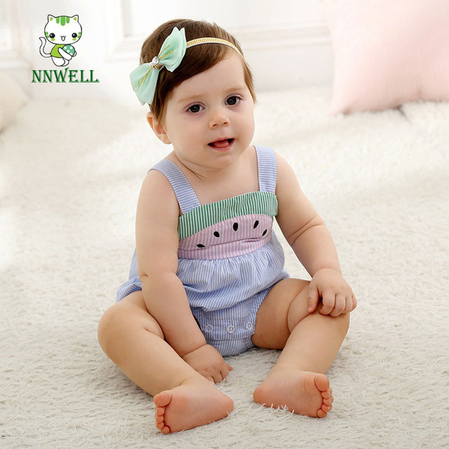 fce5ec02c866 NNW 0-3 years old baby clothes wholesale 2017 summer watermelon belt  climbing clothes Small children lovely rompers Kids clothes