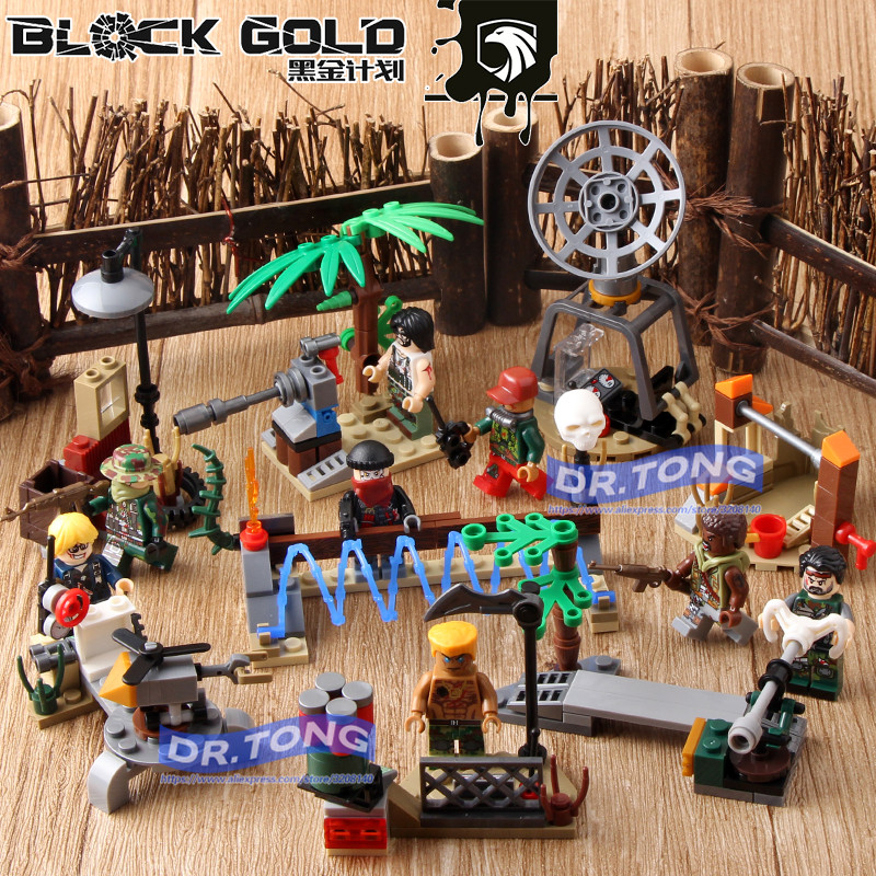 DR.TONG 80PCS/LOT 115811 11588 Black Gold Figures Army Gun Weapon Soldier Building Blocks Bricks Diy Toys Children Gifts rockwave festival 2017 placebo page 1