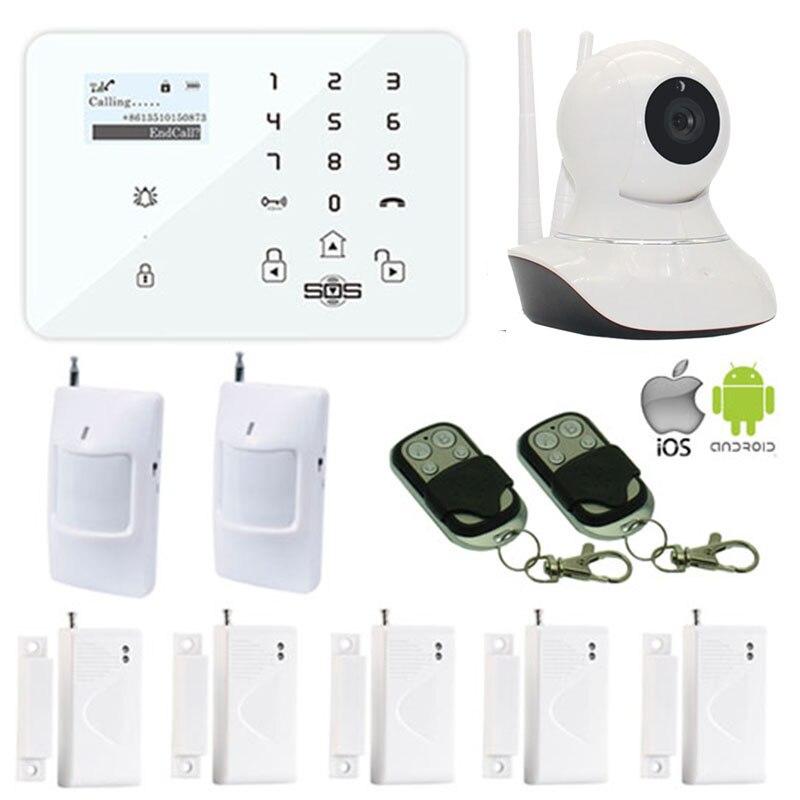 King Pigeon 720 P IP Камера WI-FI GSM/3G Камера дома Защита от взлома Системы SMS Испанский Русский двери Сенсор PIR детектор движения w12k
