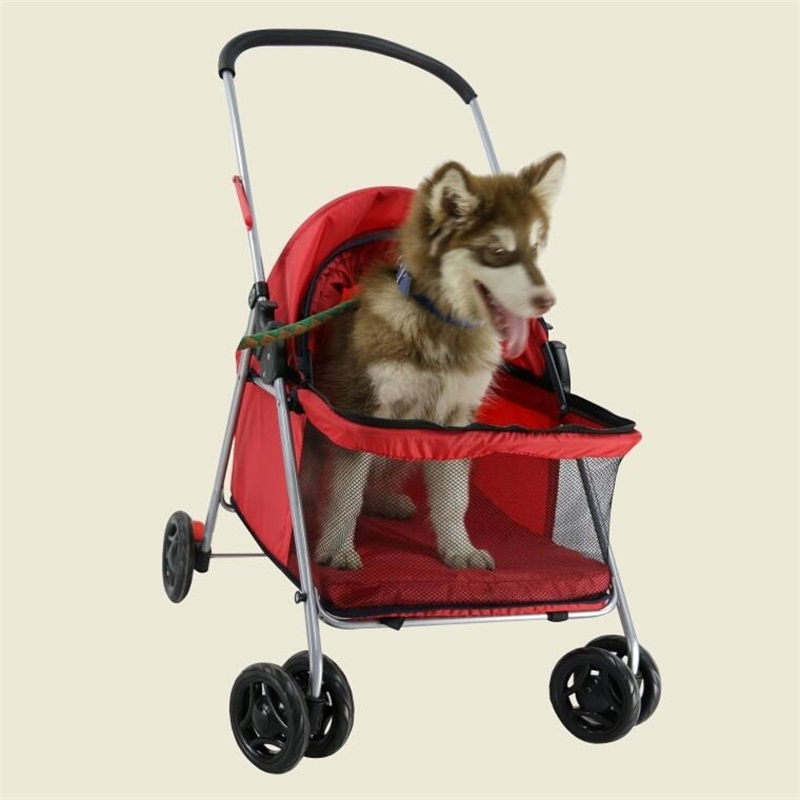 US $148 72 12% OFF|Portable Dog trolley folding Pet cart Pet Strollers-in  Dog Carriers from Home & Garden on Aliexpress com | Alibaba Group