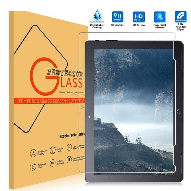 imágenes para Para bq aquaris m10 original 9 h película protectora a prueba de explosiones de vidrio templado protector de pantalla para bq m10 tablet
