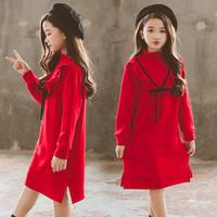 2019 Pretty Kids Baby Girls Princess Dress Casual Party Birthday Dress Toddler Kids Girls Long Sleeve Kids Dresses For Girls 12