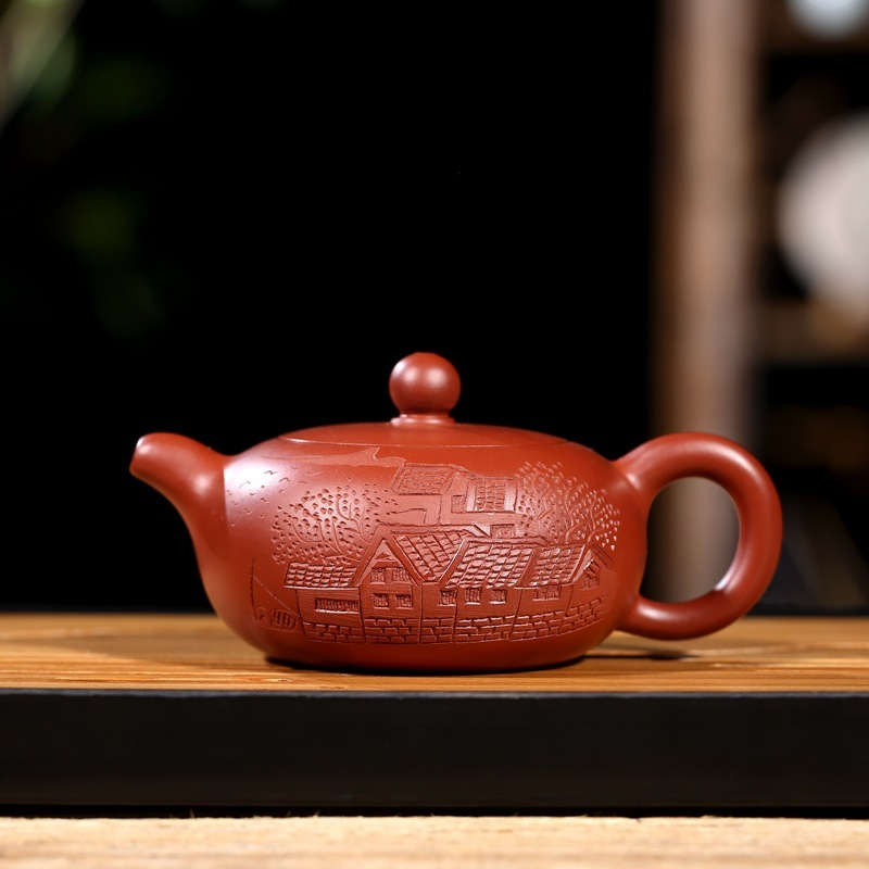 are recommended the teapot tea undressed ore dahongpao day garden pure handmade wholesale direct wechat business