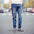 Weichao nuevo verano ripped jeans hombres del lazo azul de mezclilla mens joggers pantalones casuales chicos hip hop streetwear biker jeans homme