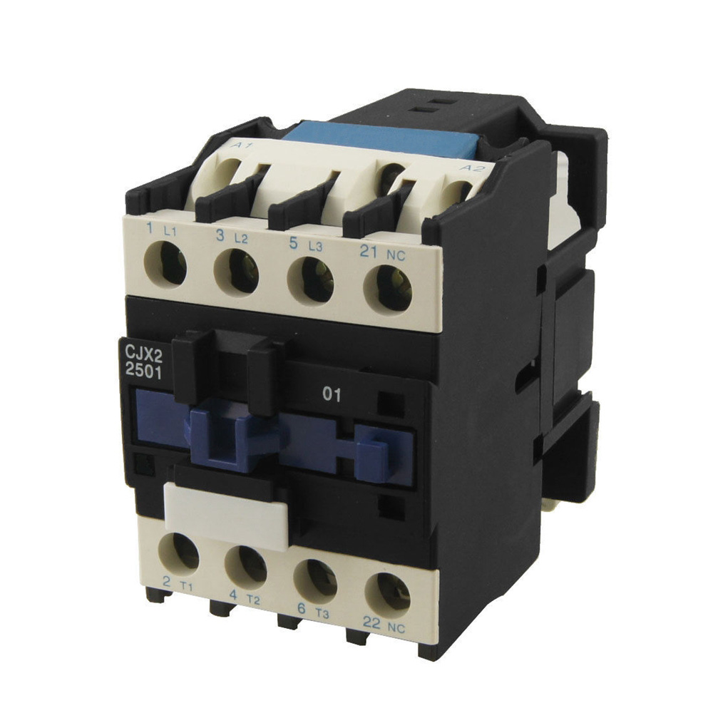 CJX2-2501 AC Motor Contactor Relay 3 phase 25A 3 Pole 1 NC 24VAC 36V 110V 220V Coil Volt Motor Magnetic Contacts 35mm Din Rail