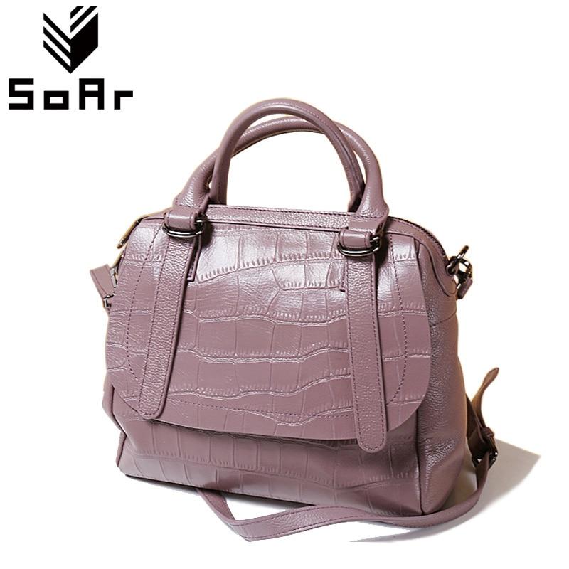 SoAr Alligator Women Messenger Bags Genuine Leather Handbags Feminina Pillow Shoulder Bags Ladies Tote Crossbody Hot Salling New 2 2 lcd red led panel 0 10a digital meter ammeter black