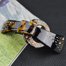 Women hair accessories 2017 vintage fashion rhinestone barrette Large clips for girls