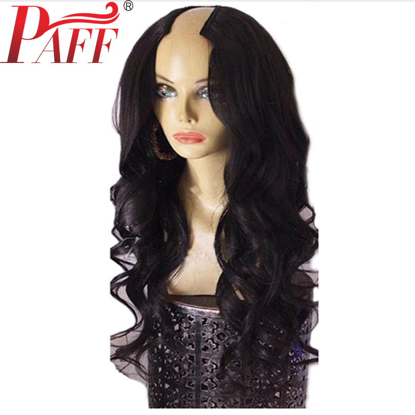 PAFF 250 Density U Part Wig Human Hair Body Wave 2 4 size For Women With