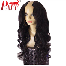PAFF 250% Density U Part Wig Human Hair Body Wave 2*4 size For Women With Brazilian Remy Hair Middle Part Natural Hairline unprocessed virgin hair brazilian u part wig body wave u part human hair wigs free middle three part upart wig for black women