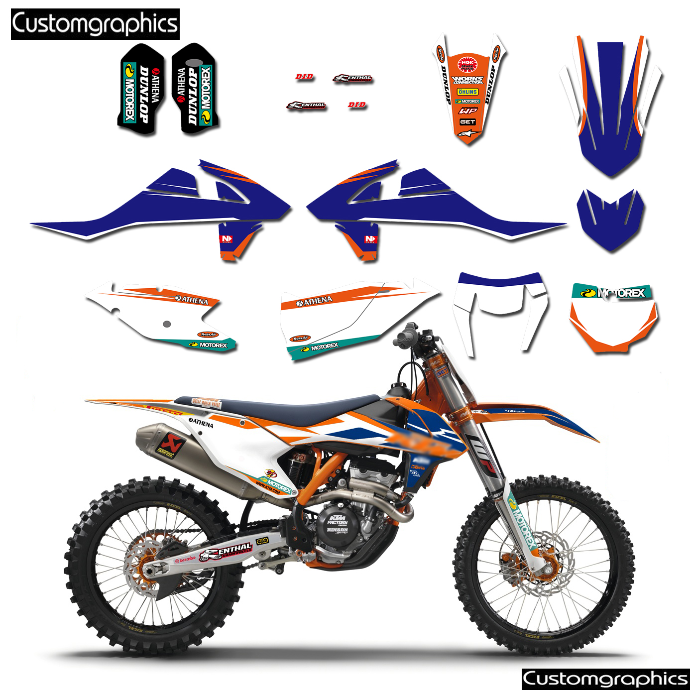 Custom graphics sticker decals kit number plate backgrounds for ktm 50 65 85 125 200 250 300 350 450 500 exc sx sxf xcw xc