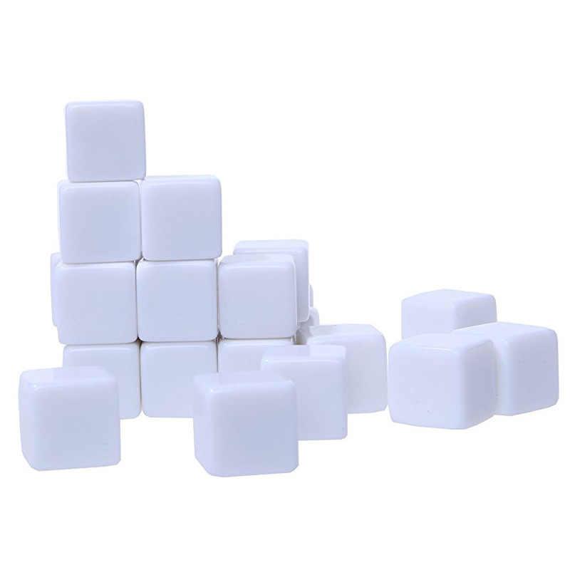 10 шт./упак. новые акриловые 16 мм белые кости белые Обучающие реквизиты игровые аксессуары математические инструменты квадратный угол