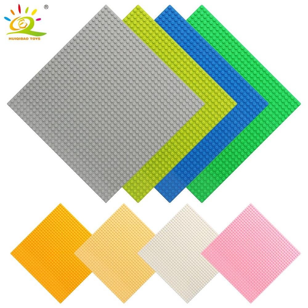 3Pcs 32*32 Dots Base Plates Plastic Baseplates Bricks Compatible City Technic Building Blocks Toys For Children Friends