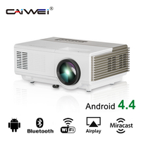 CAIWEI Mini Portable LED Projector 1080P Multimedia Home Cinema Android WIFI Proyector Camping USB TF HDMI AV