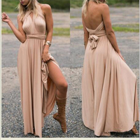 Summer Sexy Dress Women Beach Long Bandage Multiway Convertible Dresses Infinity Wrap Robe Maxi Dress Wrap