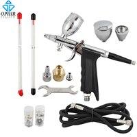 OPHIR Dual Action Airbrush Gun/Air Brush Spray Touch-Up Auto Spray Gun Airbrush for Nail Art/Car/Model/Body Tattoo Tanning_AC069