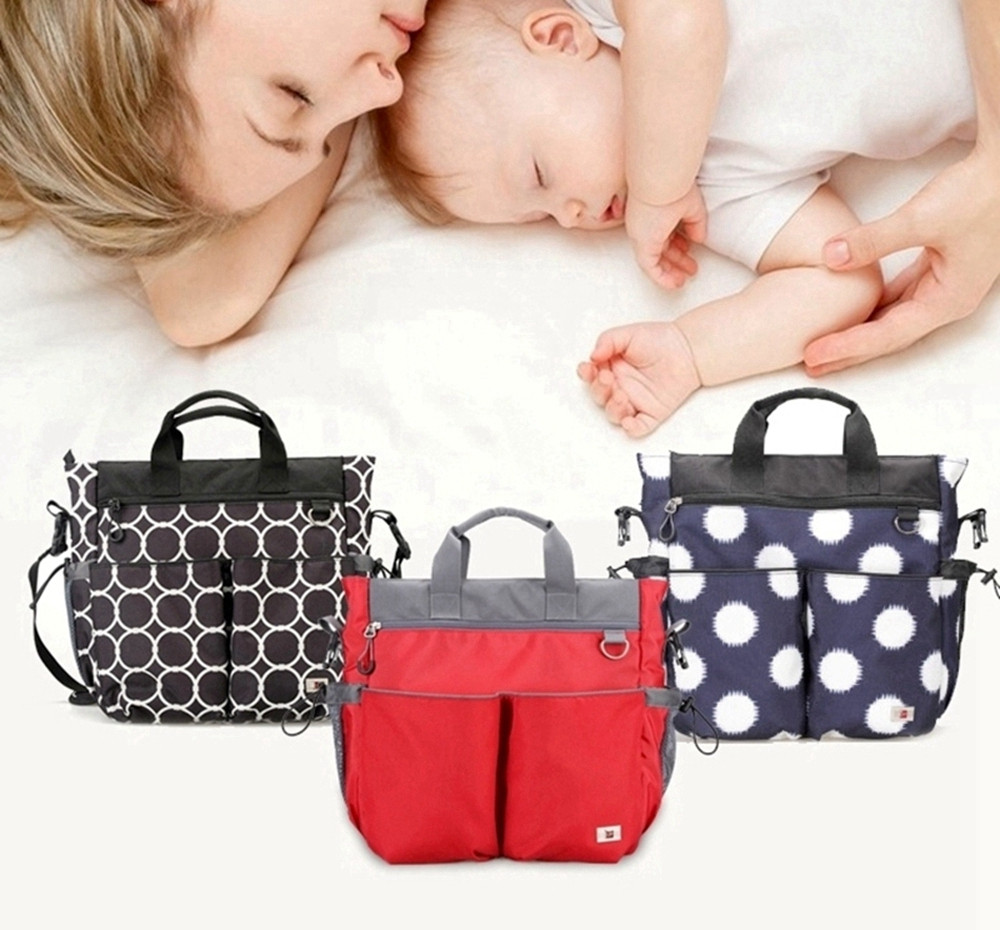 ФОТО 3 Colors 900D High Quality Polyester Waterproof Large Capacity Diaper Bag For Mom Nappy Baby Bag Durable Stroller Bag