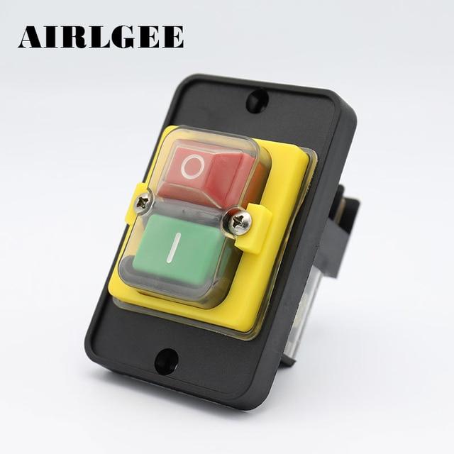 Pleasing Kjd12 Ac250V 16A Electromagnetic Push Button Switch 6 Pins Motor Wiring Database Gramgelartorg