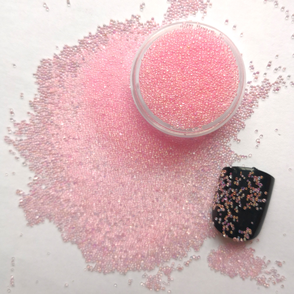 3g/bag Rose AB Nail Art Decoration Glitter Crystal Glass Caviar Rhinestones Tiny Micro Mermaid Nails Art Nail Decorations
