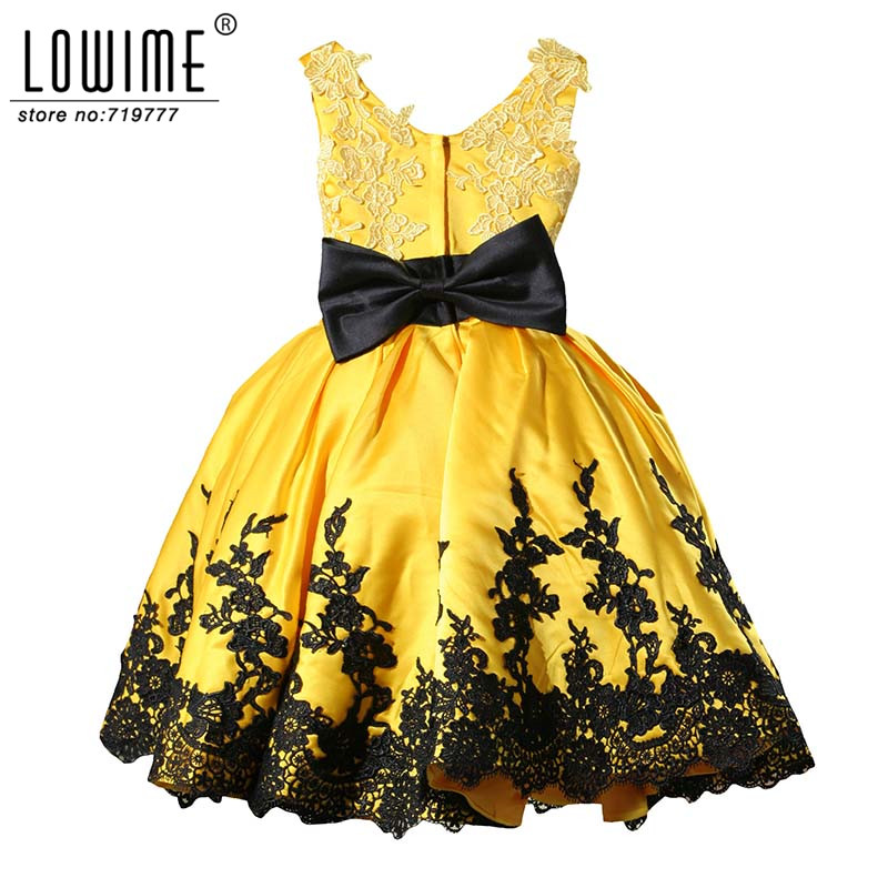 Ball gown beauty nice lace yellow and black flower girl dresses for ball gown beauty nice lace yellow and black flower girl dresses for wedding girls pageant dresses kids communion dress discount in flower girl dresses from mightylinksfo