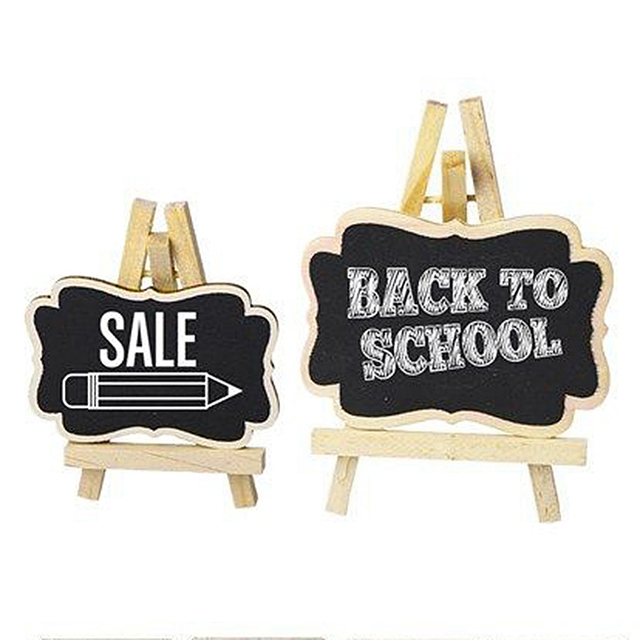 6pcs Set Mini Chalkboard Place Cards Hanging Blackboard Double Sided Wedding Party Table Number