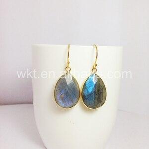 Image 4 - תכשיטים לנשים עגילי ברדורייט הטבעי ברדוריט WT E236 קסם פיאות teardrop אבן טבעי צבעים מתנה יפה