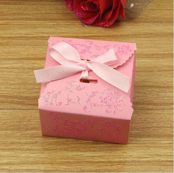 Golden powder wedding party candy favor box bomboniere souvenir marriage sweets dragee present gifts bag caja