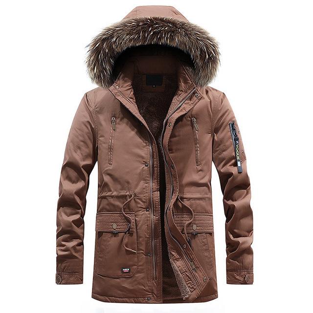 Zima Cargo parki męska wiatrówka ciepłe płaszcze 2018 gruba ciepła kurtka 95% bawełna z kapturem odzież wierzchnia
