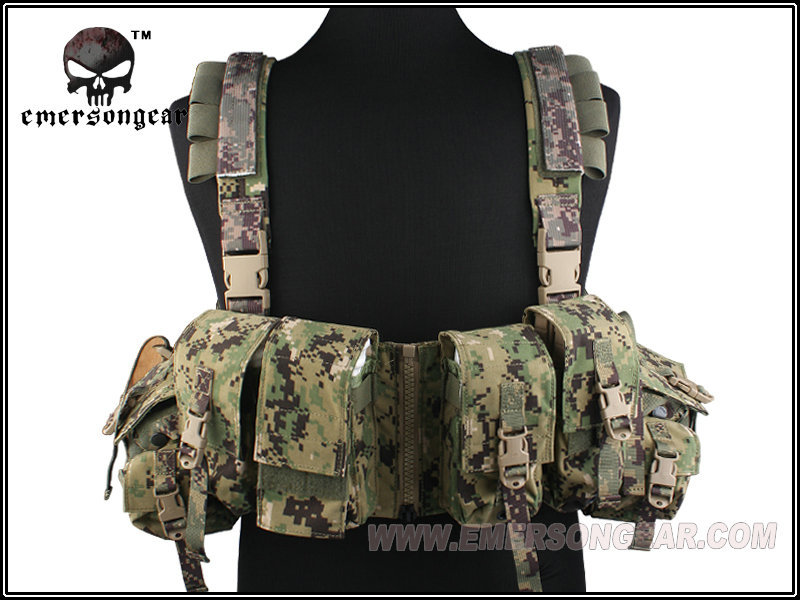 AOR2 EMERSON LBT 1961A-R Tactical Chest Rig Vest w/ Airsoft Painball & Military Army Combat Gear USA 500D Cordura EM2977D pak