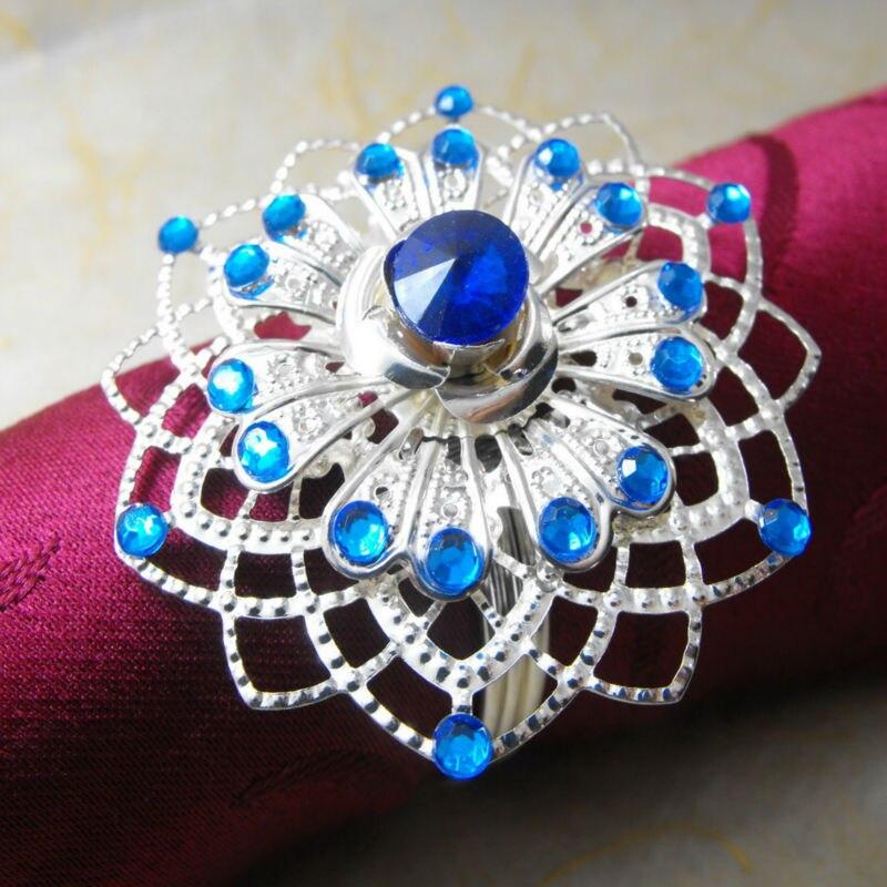 metal snowflake  napkin rings ,napkin holder,