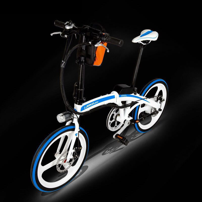 LANKELEISI 20 inch folding electric bicycle, light weight one wheel lithium electric bike titanium folding bike bicycle pedal axles spindles shafts 55g pair for crops vp one vp one vpone primary gold
