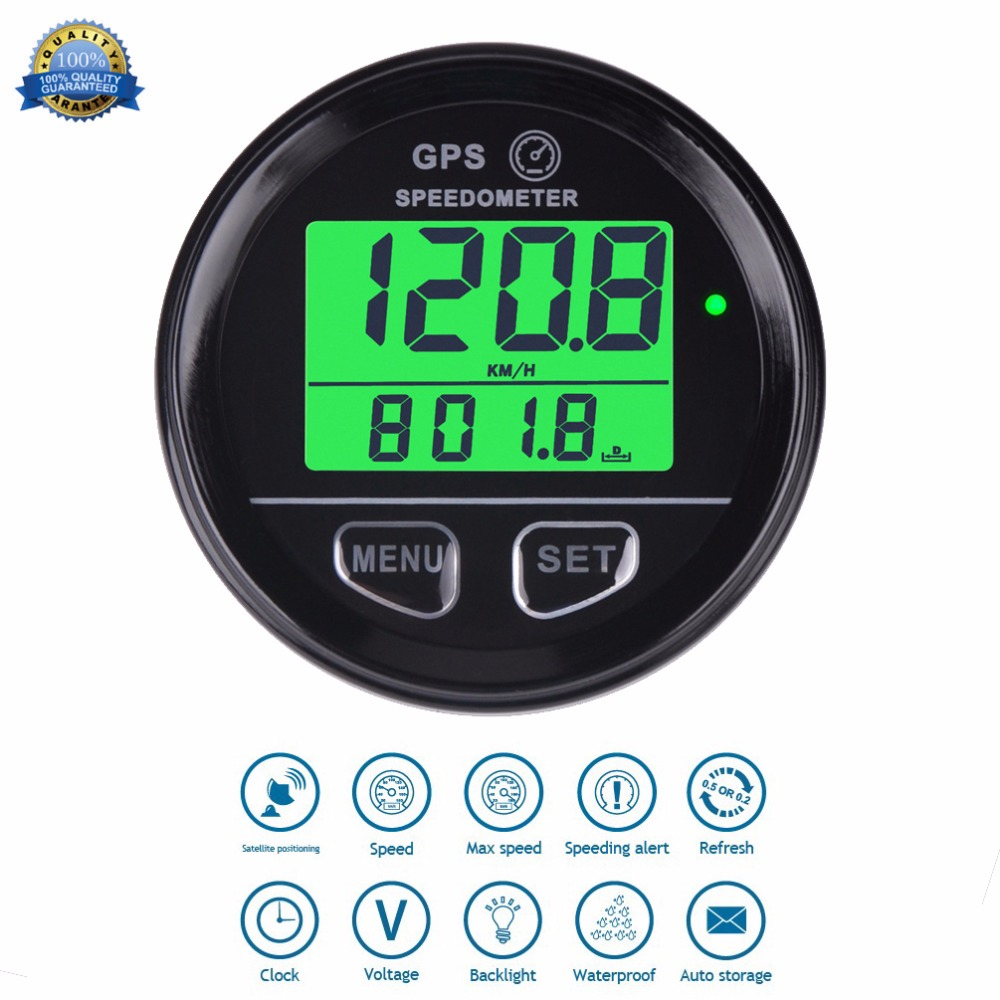 Waterproof Digital GPS Speed Meter Backlight SM001 Speed Counter For ATV UTV Motorcycle Automobile motor vehicle 1pc 0 130km h gps speedometers 85mm speed milometers 0 80mph odometers 9 32v for auto with gps antenna and backlight
