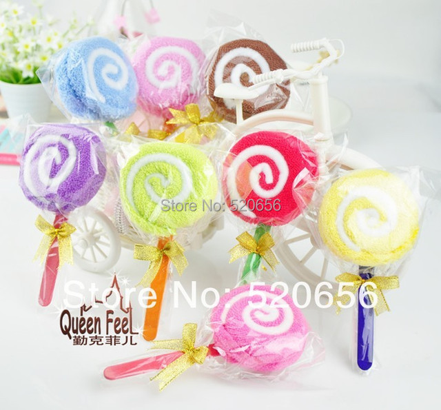 Baby Shower Favor Lollipop Cake Towel Wedding Bomboniere Kids