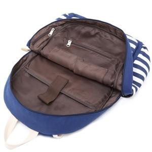 Image 5 - rucksack women backpack usb Backbag print Laptop Backpack with Charger Female Back Pack school bags for teenage girls Black Set