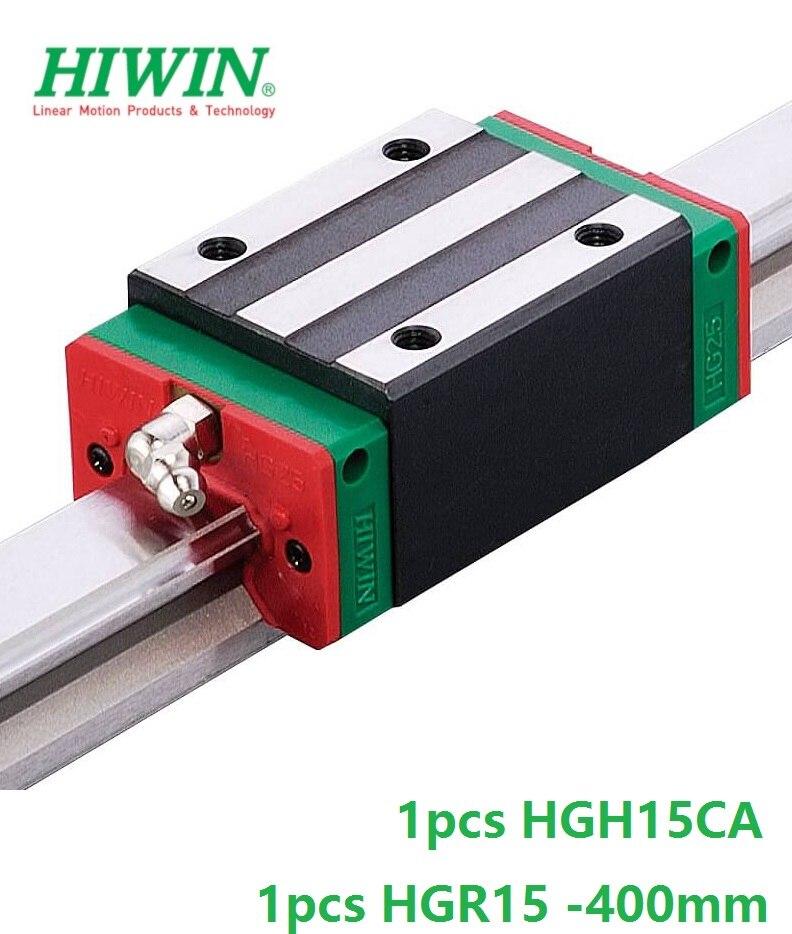 1pcs 100% original Hiwin linear rail linear guide HGR15 -L 400mm + 1pcs HGH15CA linear narrow block cnc router original 1pcs cs23 04do3