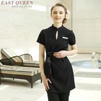 Spa massage beautician uniform women beauty salon waitress beautiful clinical uniforms for woman feamle dress DD1395