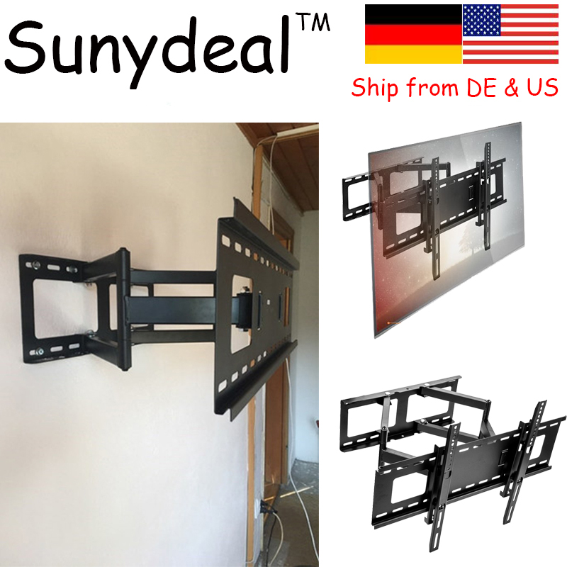 Articulating Curved Panel TV Wall Bracket Suitable Size 32'' 65'' VESA 500x400mm TV Holder Tv soporte de pared TV Mount Stand