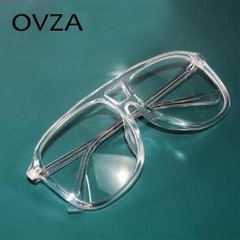OVZA accesorios de moda las mujeres montura transparente de anteojos marca diseñado estilo aviador óptica marcos para gafas hombre S6058