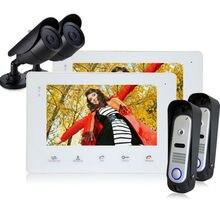HomefongWaterproof Digital  Doorbell Handfree Intercom 12 Ringtones Door Phone with CCTV Door Phone Monitor Support Night Vision