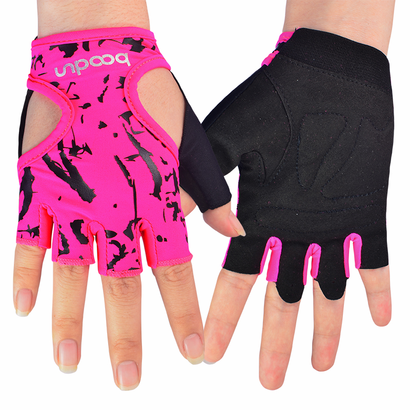 Ladies Non-Slip Fingerless Yoga Gloves Sports Fitness Cycling Womens Girls Grip