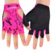 Women's Gym Gloves Half Finger Elastic Non-slip Workout Weight Lifting Training Dumbbell Barbell Yoga Fitness Sport Gloves oem gym weight lifting leather xrossfit training barbell pull up hand grip workout sport bodybuilding fitness hand gloves