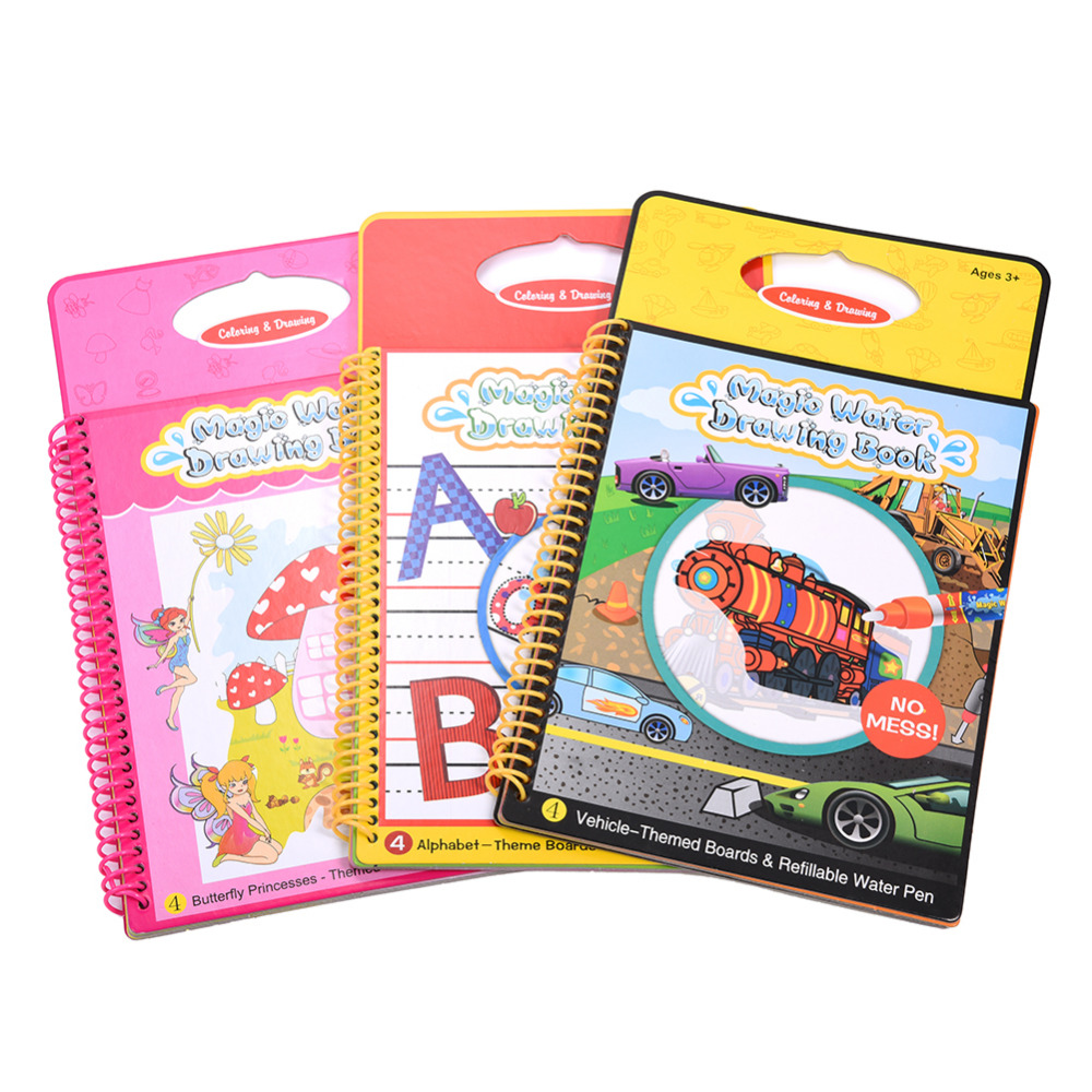 Children Painting Magic Water Drawing Book Coloring Doodle With Pen Doodling Board For Kids Education Toy In Toys From