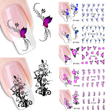 ELecool 10 style  Nail Art Sticker Fashion Stickers Flower Decals Tips Decoration Tool