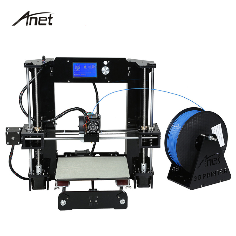 Easy Assemble Anet A6 A8 Impresora 3D Printer Kit Auto Leveling  Big Size Reprap i3 DIY Printers With Hotbed Filament SD Card 2017 new anet easy assemble 3d printer upgrated reprap prusa i3 3d printer large print size kit diy with filament 16gb sd card