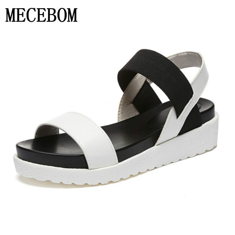 2018 New Shoes Summer Sandals Women Peep Toe Sandalias Flat Shoes Roman Sandals Shoes Woman ...