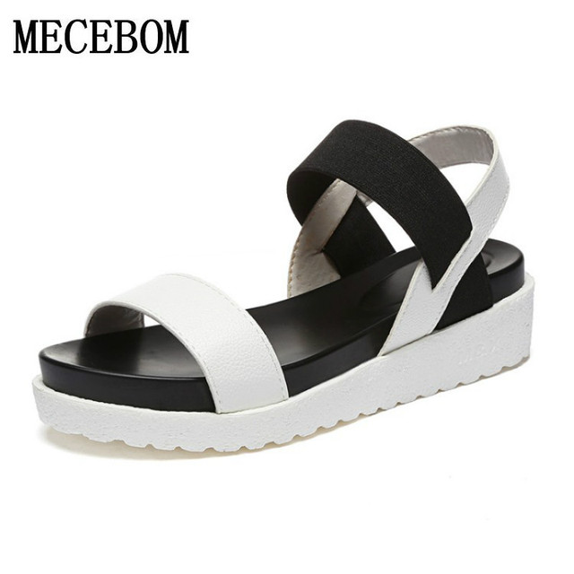 2018 New shoes Summer sandals women peep-toe sandalias flat Shoes Roman sandals shoes woman mujer Ladies Flip Flops Footwear 810